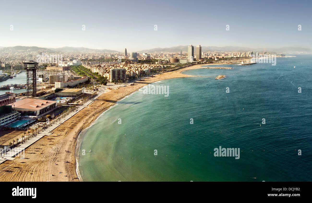 Barceloneta beaches, Barcelona, Spain. Stock Photo