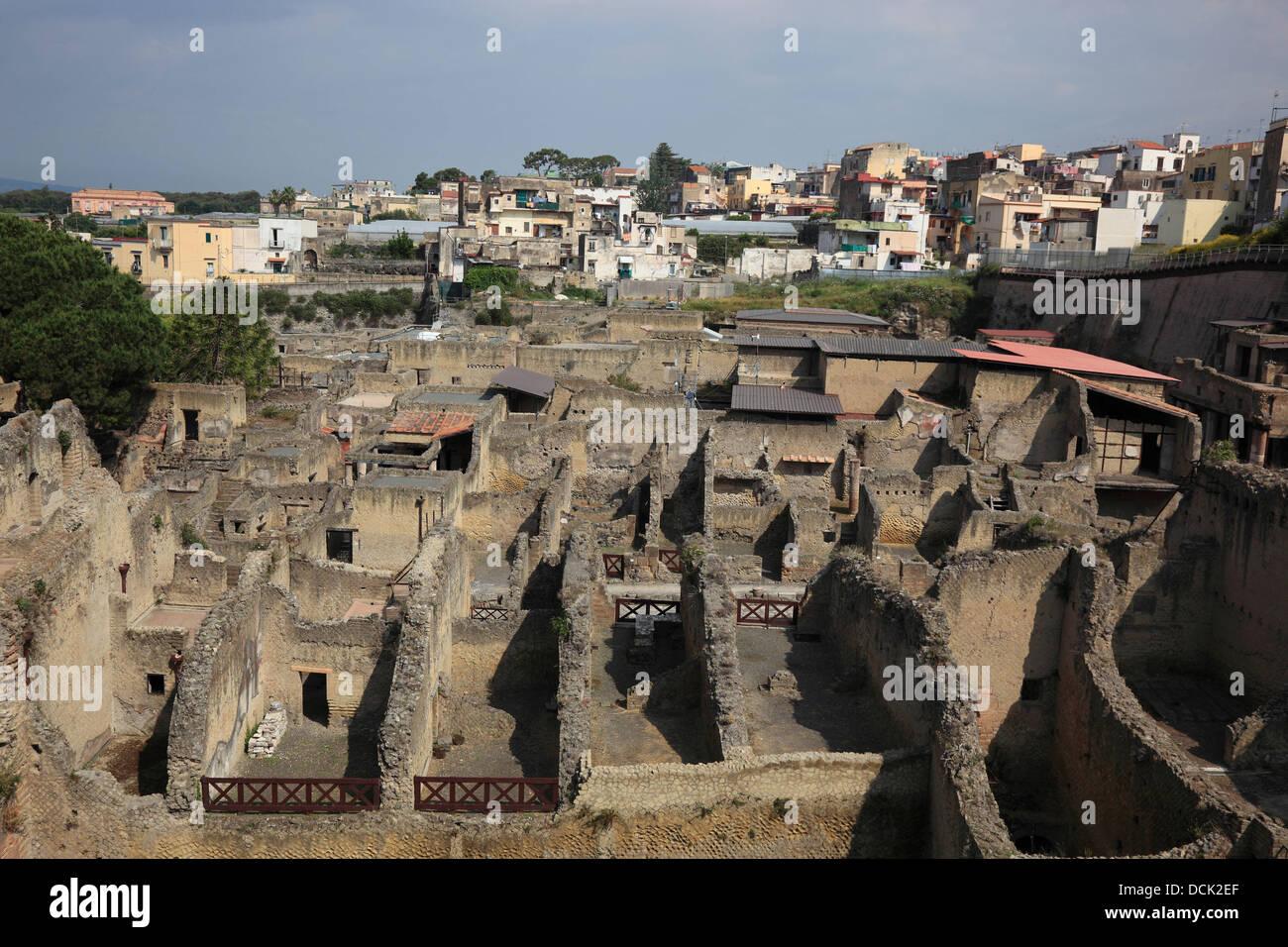 Ancient City of Herculaneum, Campania, Italy Stock Photo
