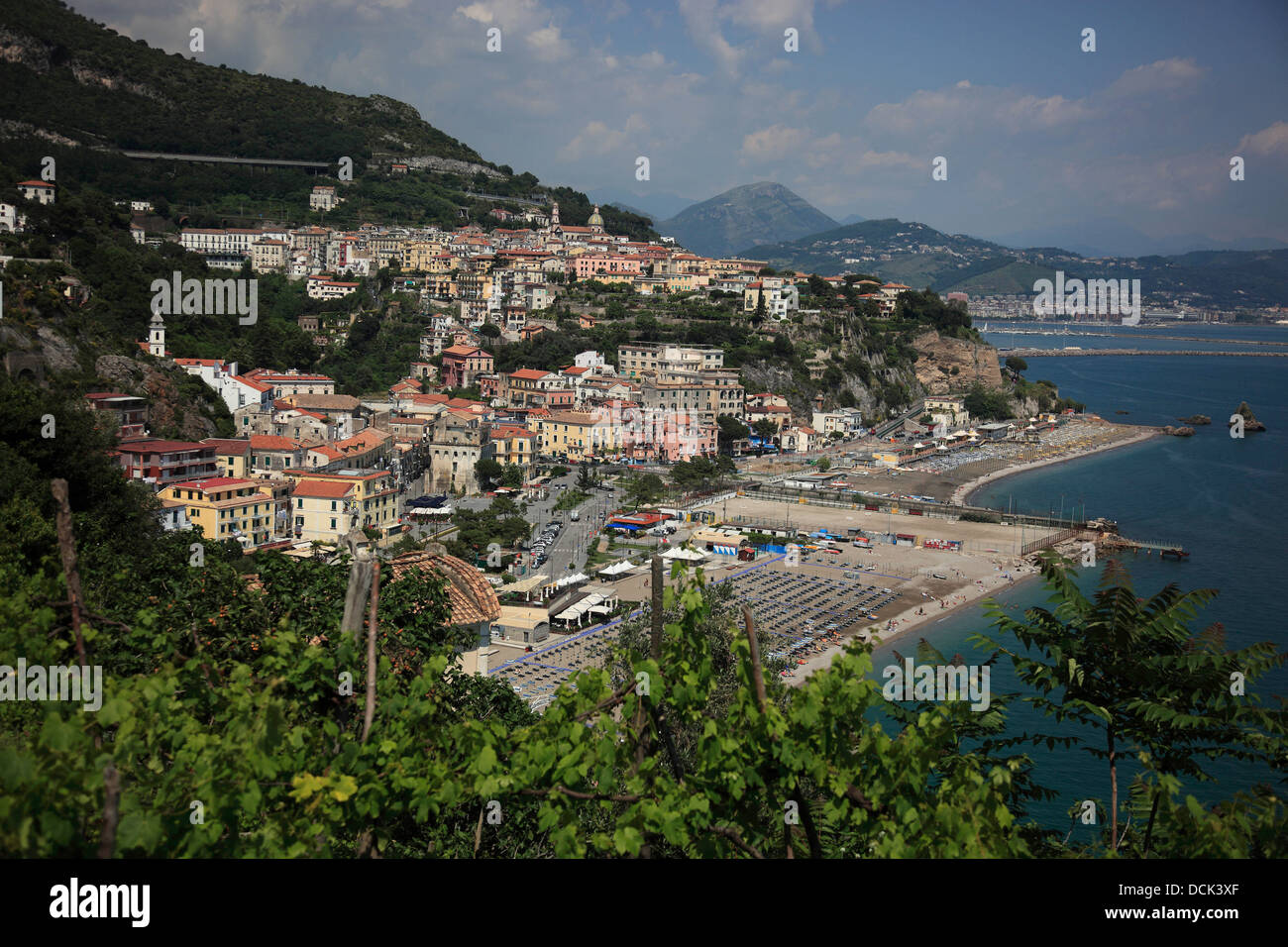 Vietri sul Mare, Campania, Italy, on the Amalfi Coast Cetara Stock Photo