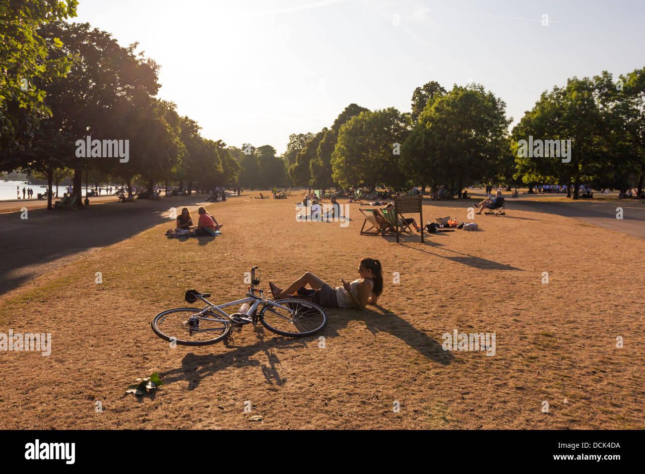 Heatwave 2013 - Hyde Park - London - Stock Image