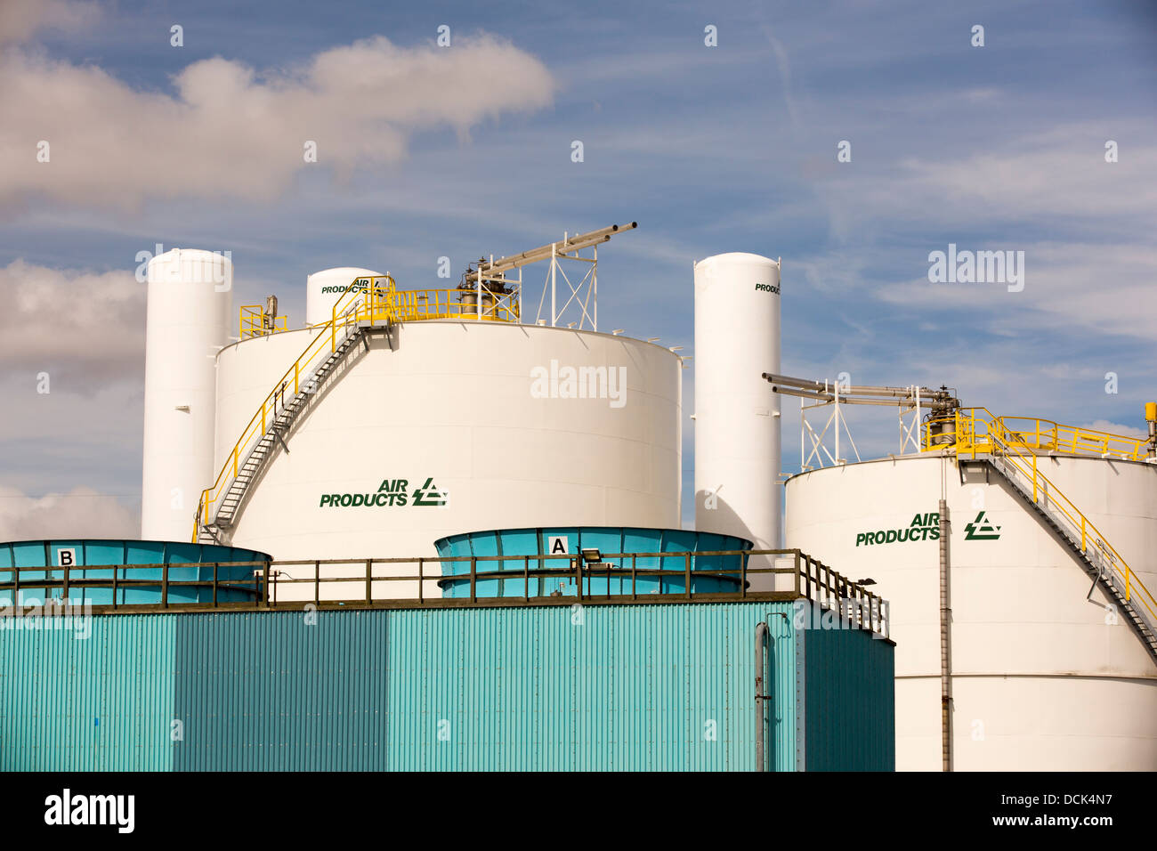 An air products manufacturing plant near Hull, Yorkshire, UK. - Stock Image