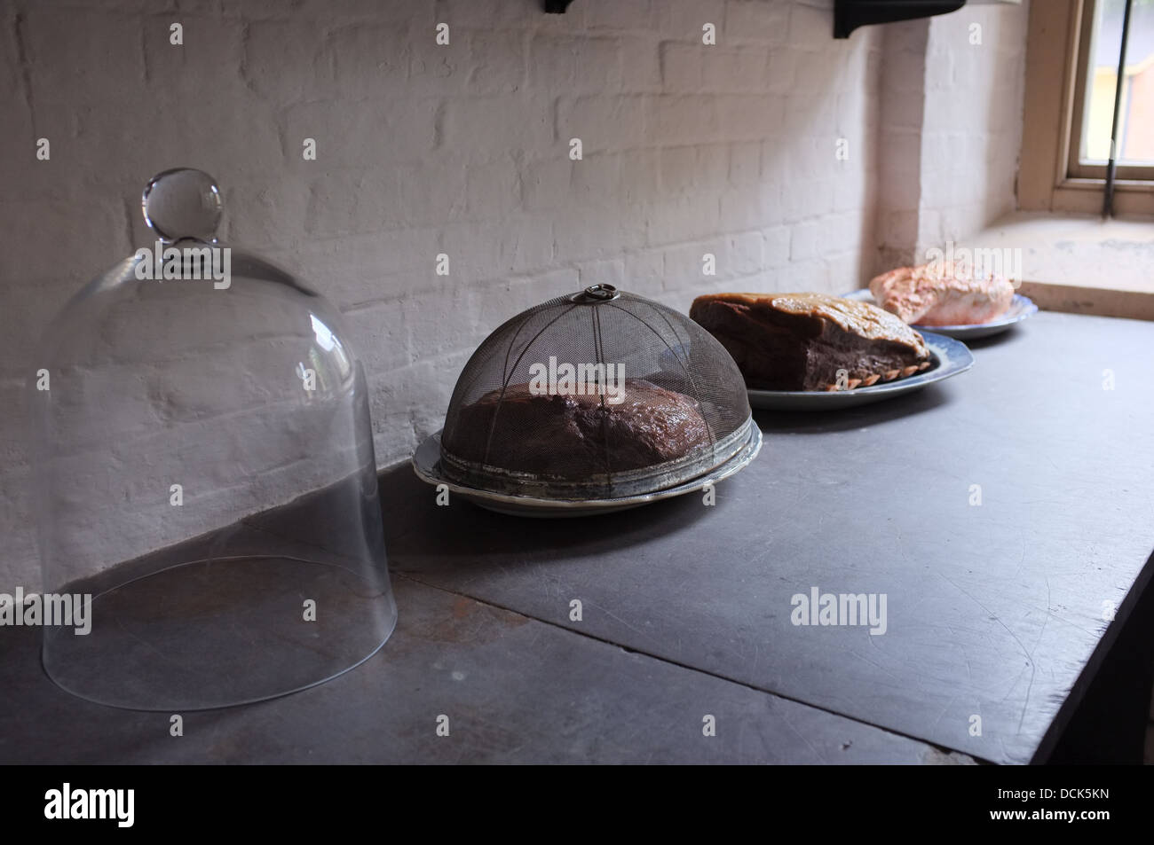 Victorian Kitchen Bell Jar Covered Food On Sideboard