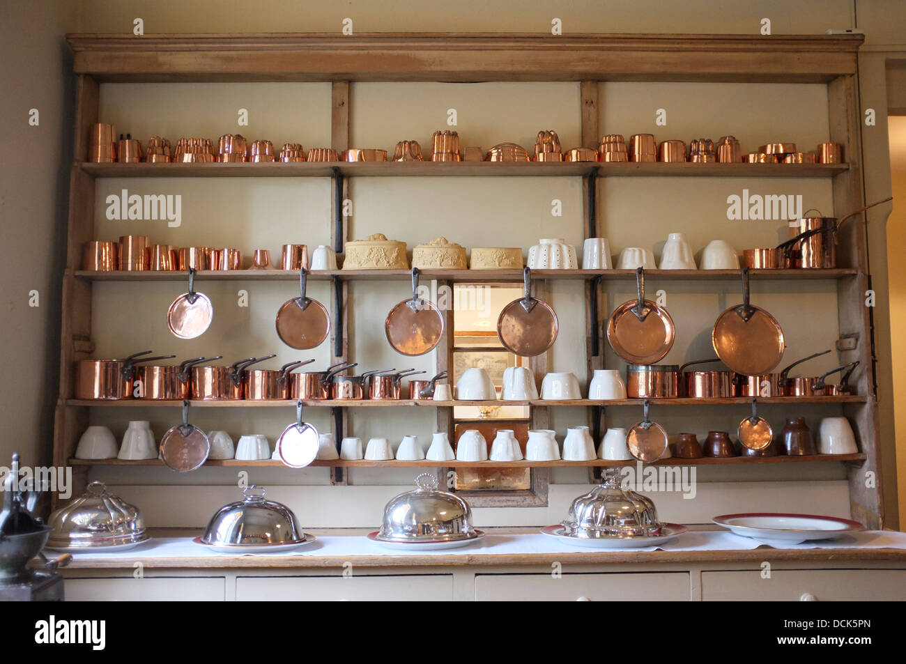 Victorian Kitchen With Copper Pots Amp Pans And Silver