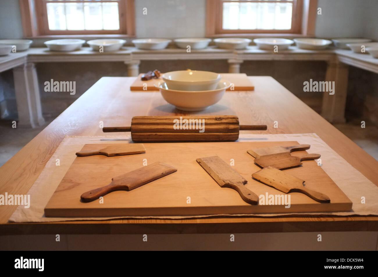 Victorian cheese & butter kitchen utensils - Stock Image