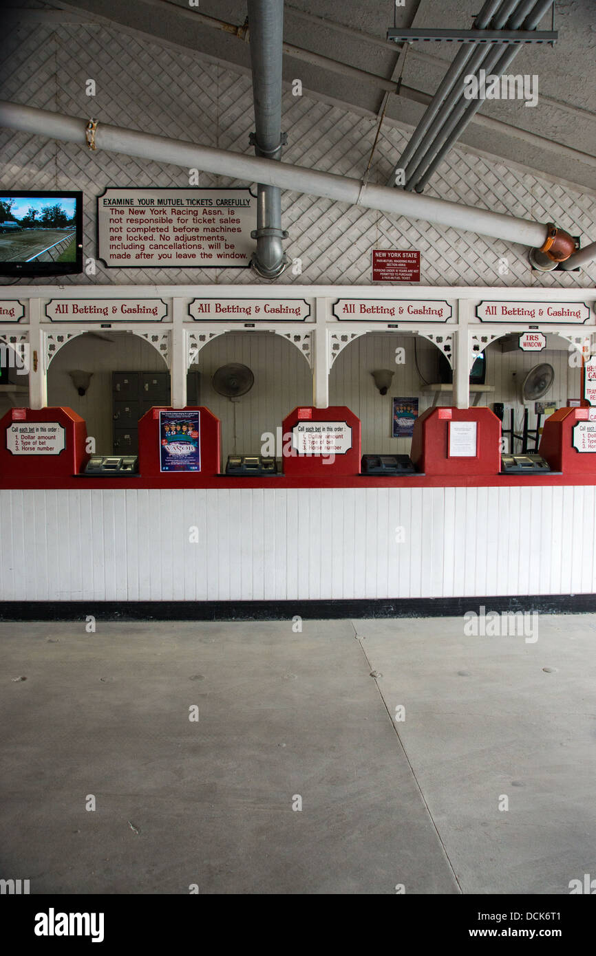 Ticket Booth At Saratoga Raceway The Oldest Horse Race Track In The Stock Photo Alamy
