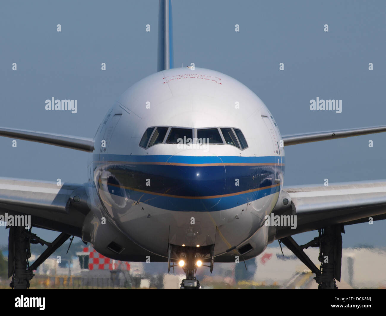 B-2071 China Southern Airlines Boeing 777-F1B - cn 37309 taxiing 18july2013 pic-001 - Stock Image