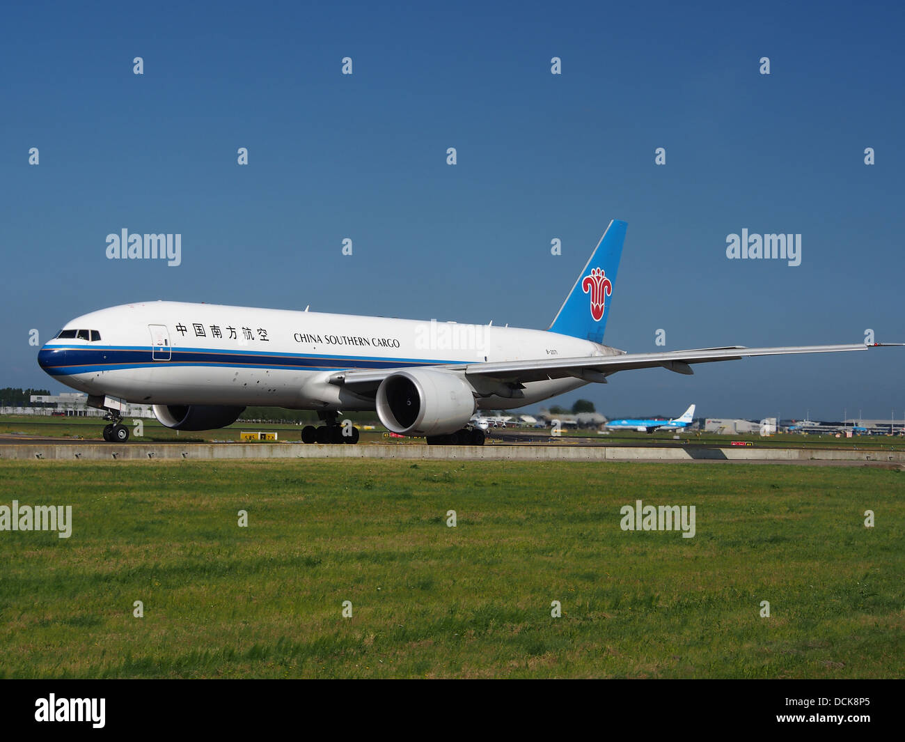 B-2071 China Southern Airlines Boeing 777-F1B - cn 37309 taxiing 18july2013 pic-002 - Stock Image
