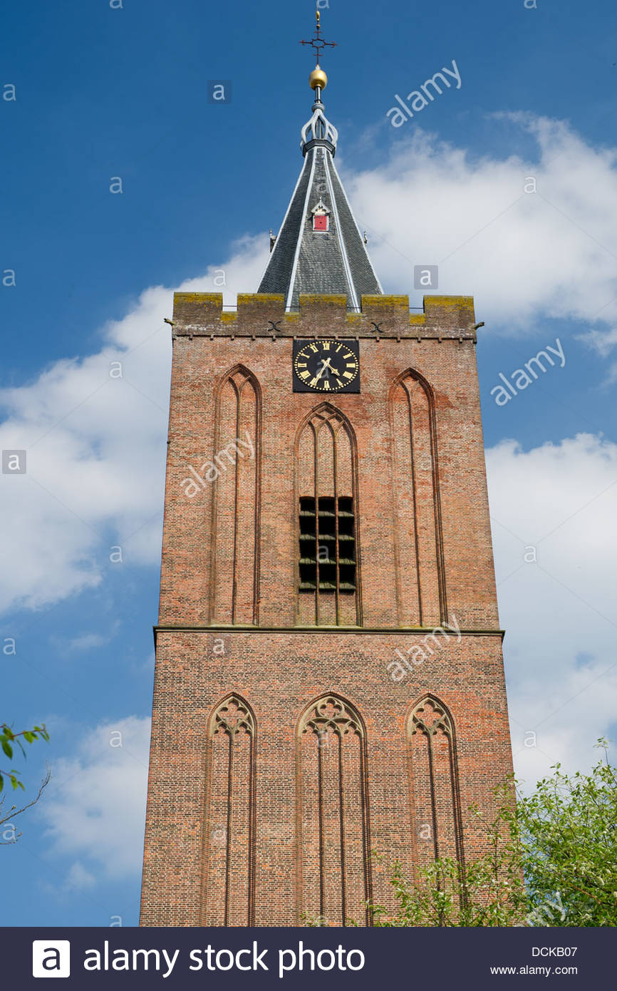 Church tower in Holland - Stock Image