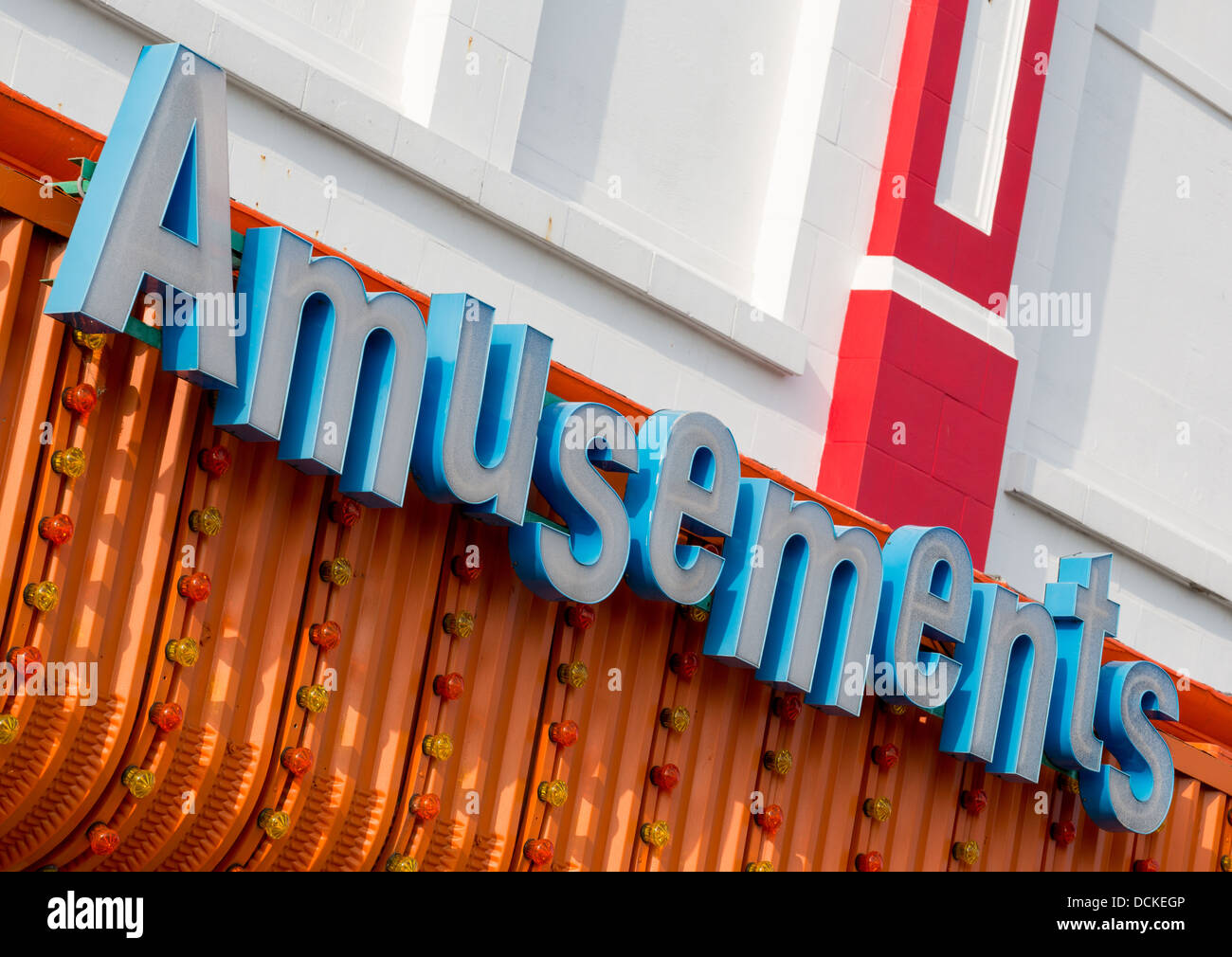 19/08/2013 Amusements, arcade sign, Southend-on-sea - Stock Image