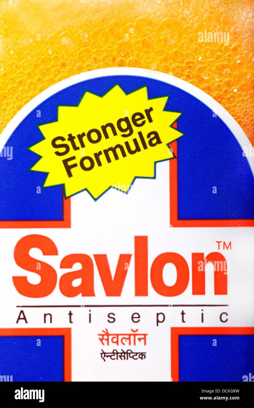 Savlon,antiseptic,Liquid antiseptic,hand wash,anti-bacterial,chemical,health care,medicare.hygiene,Savlon - Stock Image