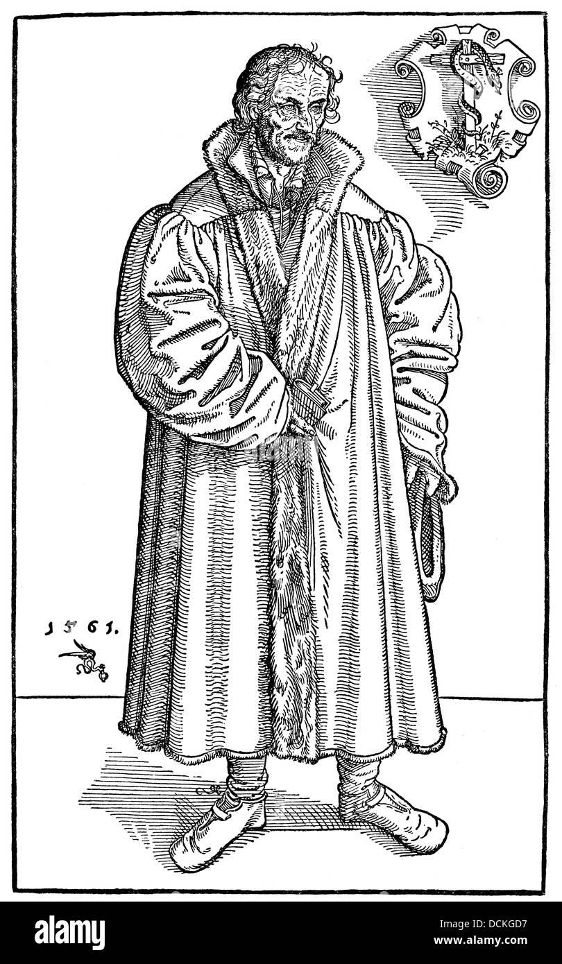 Philipp Melanchthon or Philipp Schwartzerdt, 1497 - 1560, a philologist, philosopher, humanist, theologian, poet - Stock Image