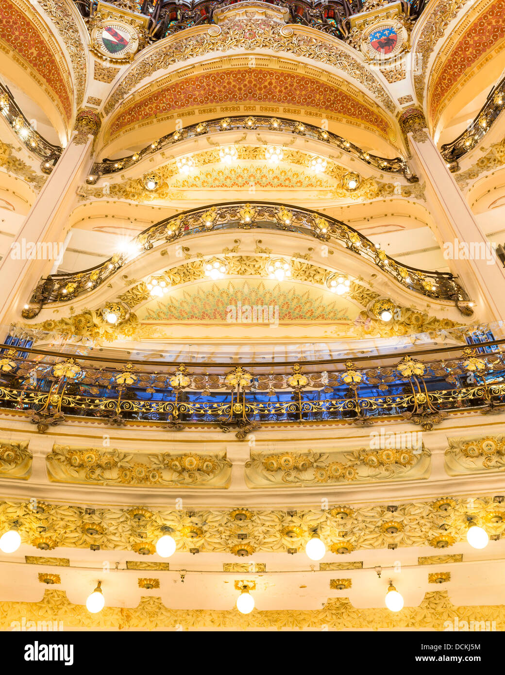 Galeries Lafayette, Paris, France. Architect: Georges Chedanne And Ferdinand Chanut, 1912. Stock Photo