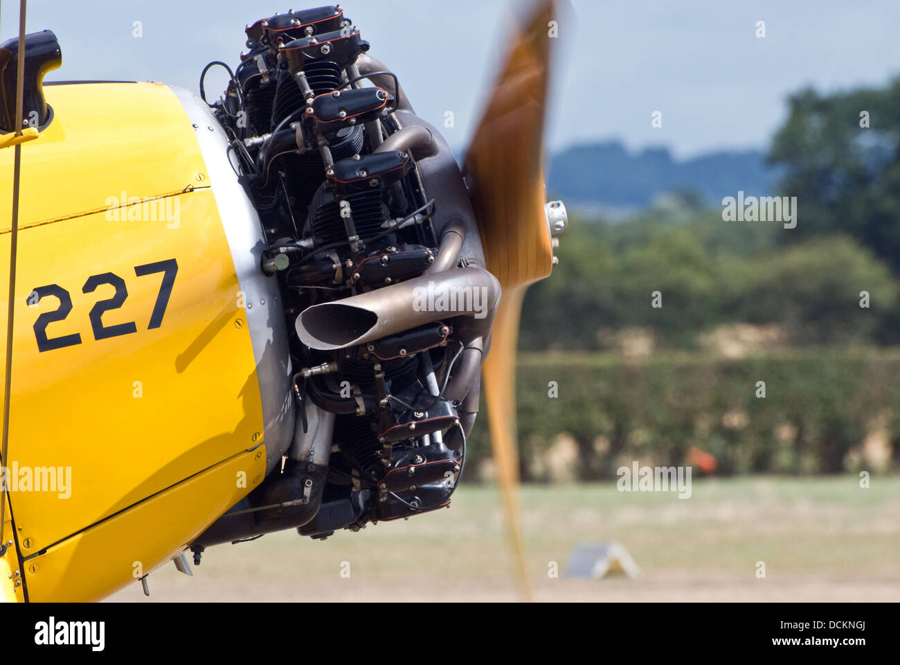 Engine of Boeing B75 Stearman - Stock Image