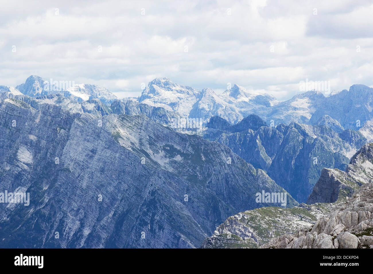 Julian Alps in the summer, Slovenia - Stock Image