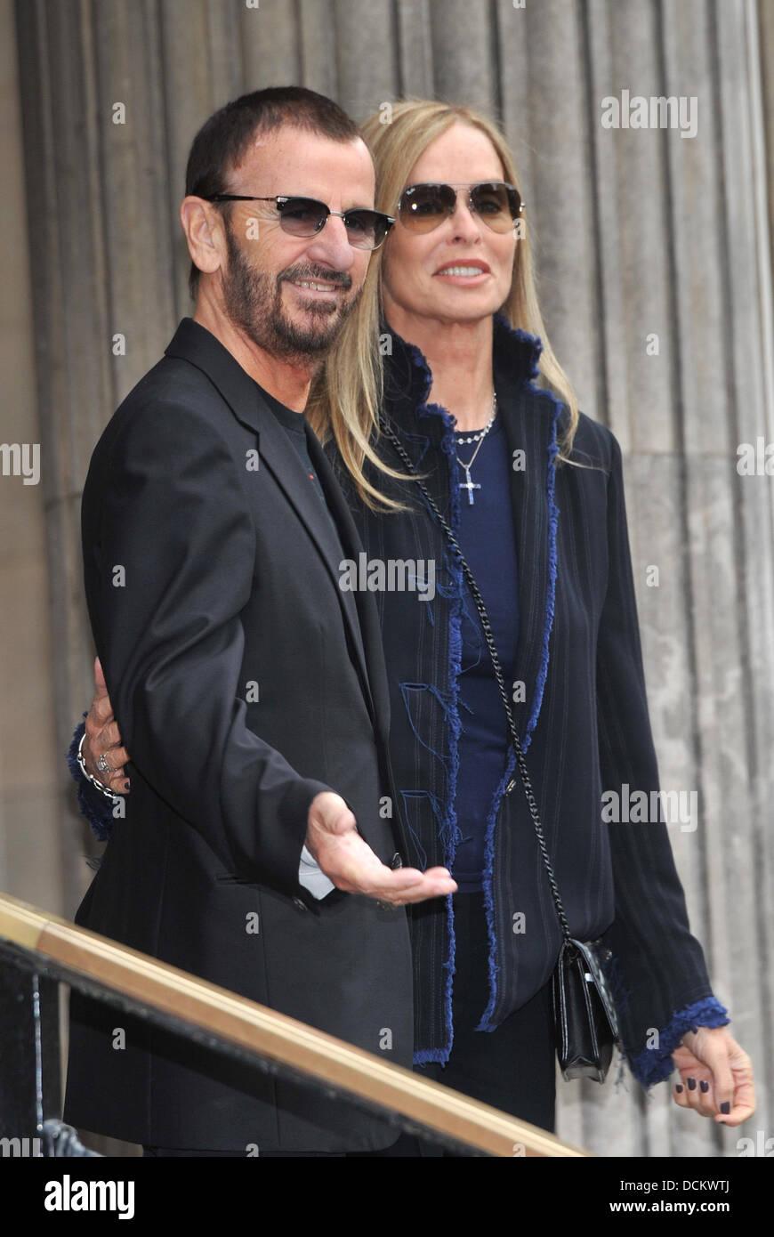 Ringo Starr And Barbara Bach The Wedding Of Sir Paul Mccartney And Stock Photo Alamy
