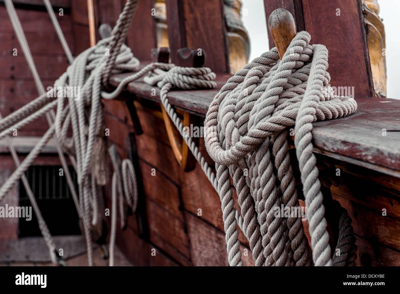 Ship rigging - Stock Image