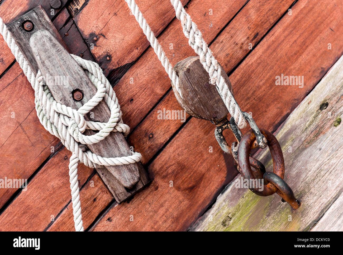 Ship tackles - Stock Image