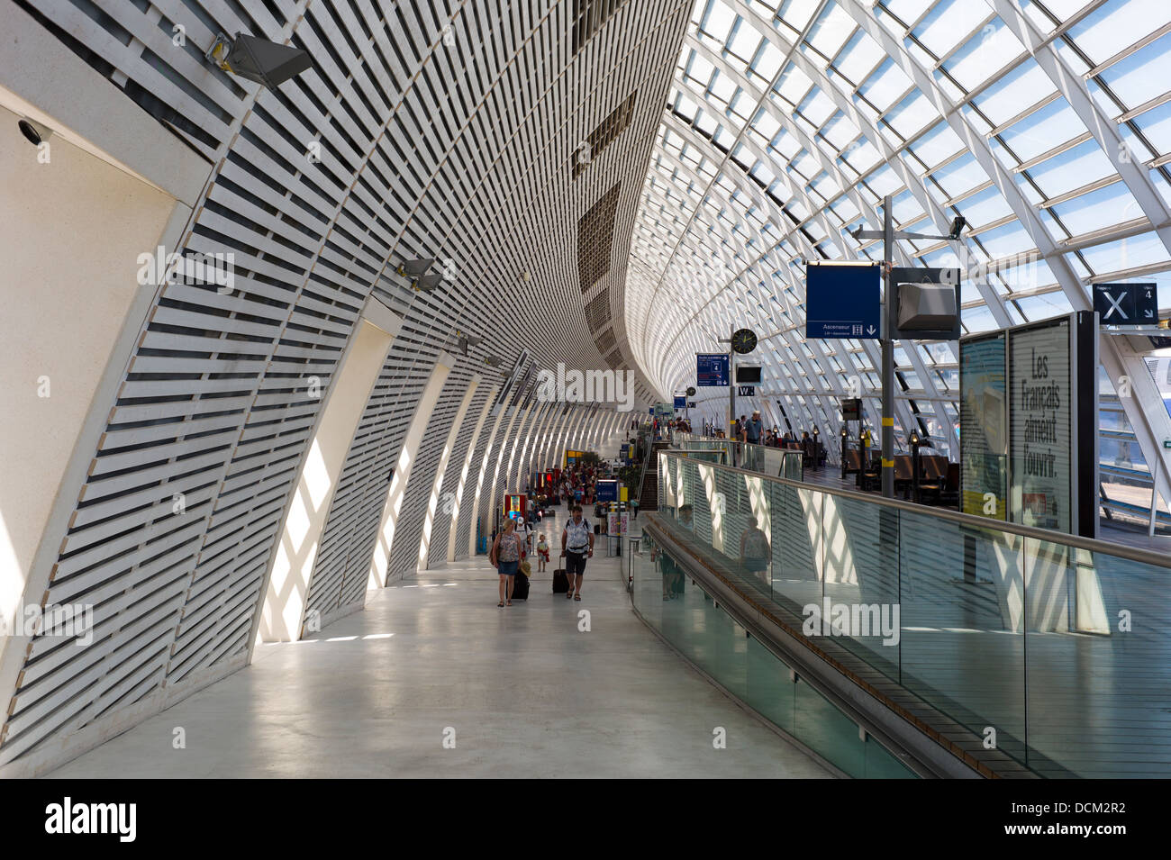 Gare D Avignon Tgv This Station Was Opened In 2001 Was Designed By Stock Photo Alamy
