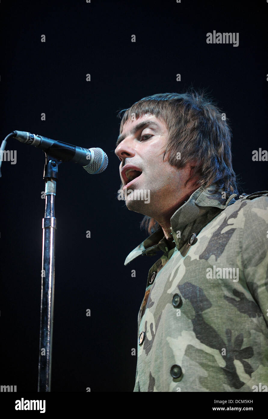 Liam Gallagher of Beady Eye performing at the Heineken Music Hall Amsterdam, The Netherlands - 18.10.11 - Stock Image