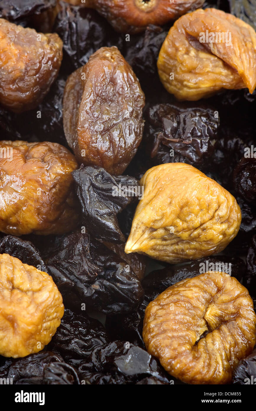 dried plums and figs - Stock Image