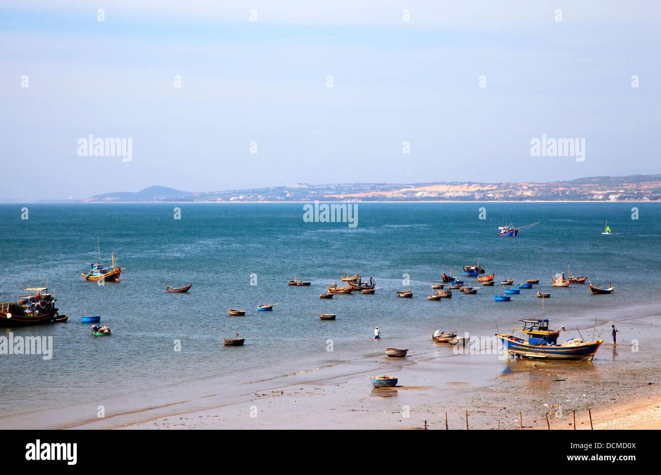 Mui Ne fishing village Stock Photo
