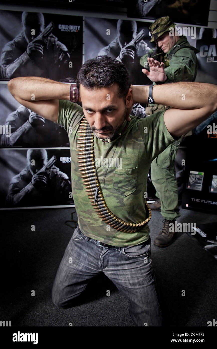 The actor Cas Anvar at a game signing computer xbox ps3 gaming event - Stock Image