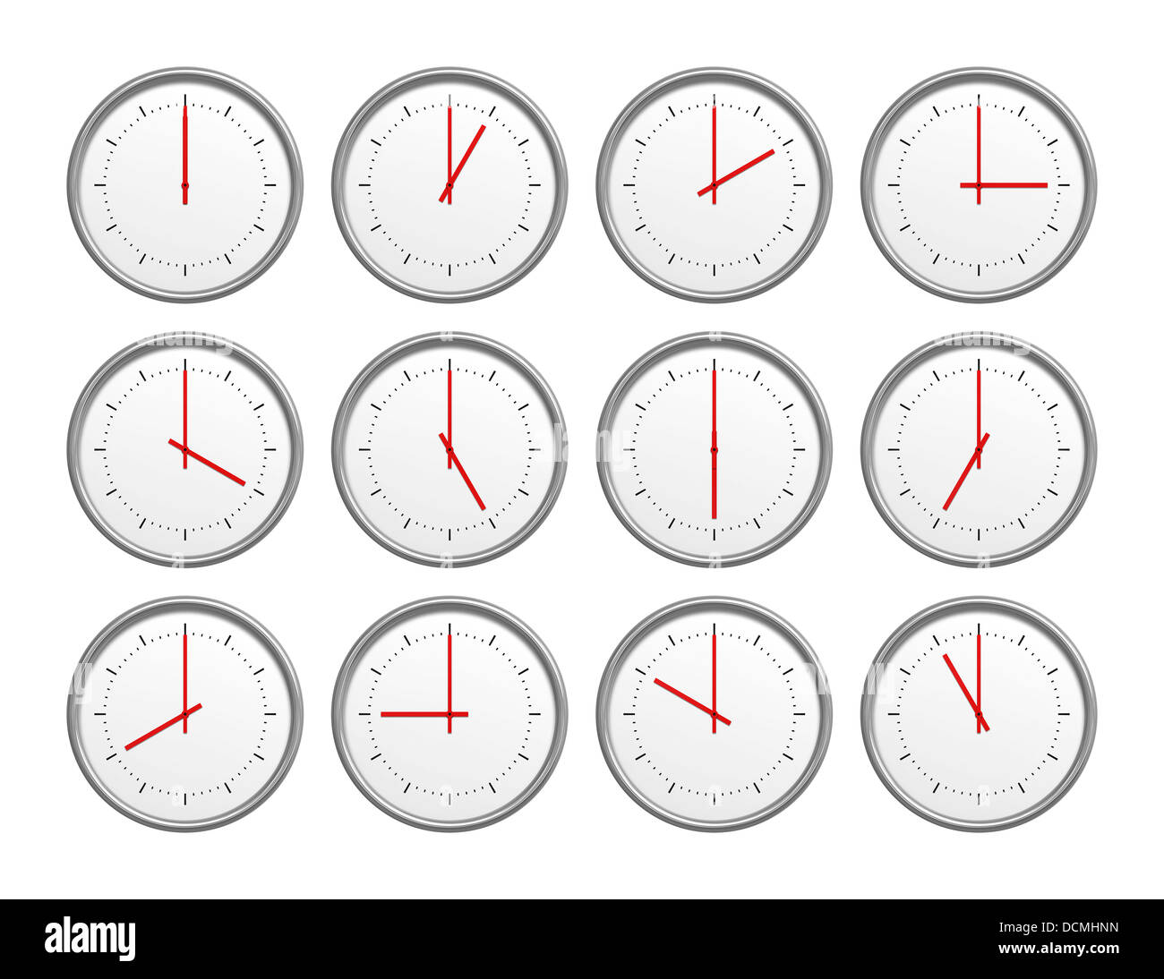 Different Time Zone Clocks Stock Photos Amp Different Time