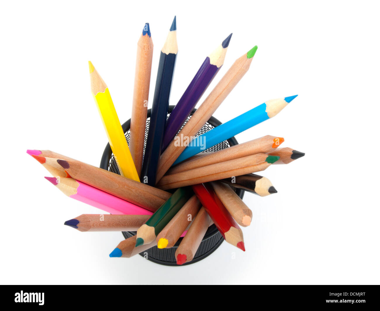Isolation Materials Stock Photos Images Crayola Colored Pencils Long Isi 24 In Pot Isolated Image