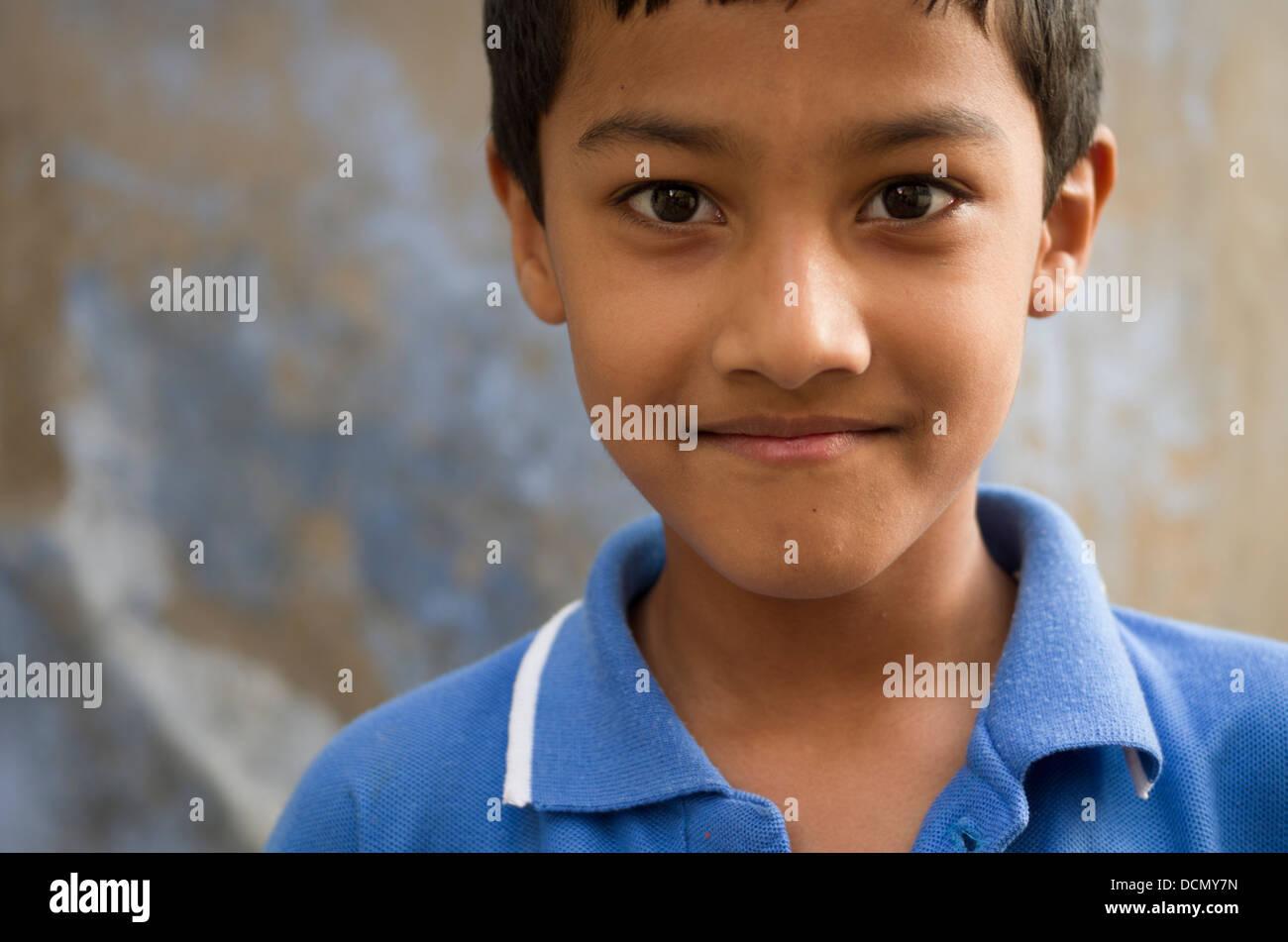 Young Indian Boy -  Jodhpur, Rajasthan, India - Stock Image