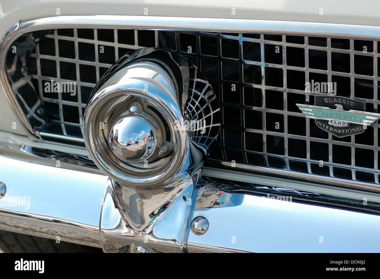 Custom car show central Florida. Ford Thunderbird bumper and grille detail.