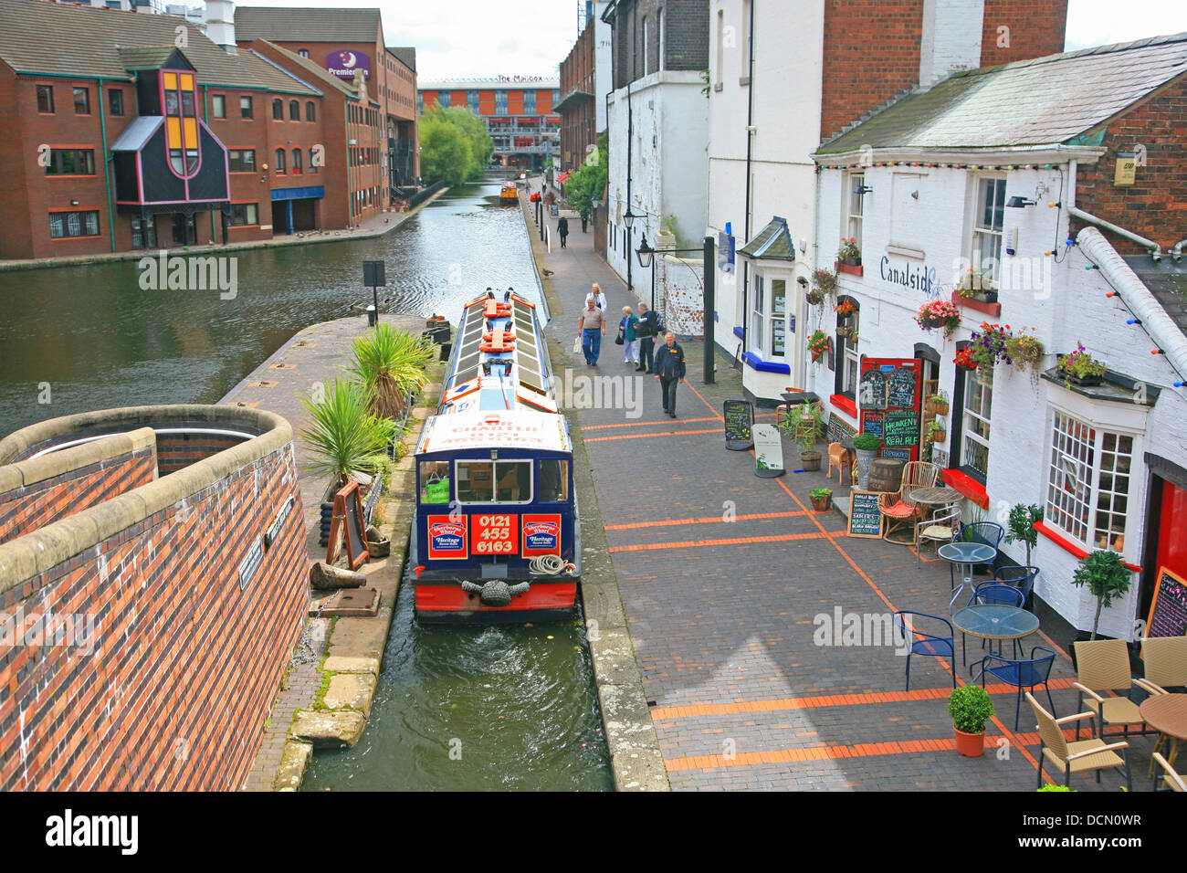 ENGLAND WEST MIDLANDS BIRMINGHAM The Birmingham Canal at Brindley Place - Stock Image
