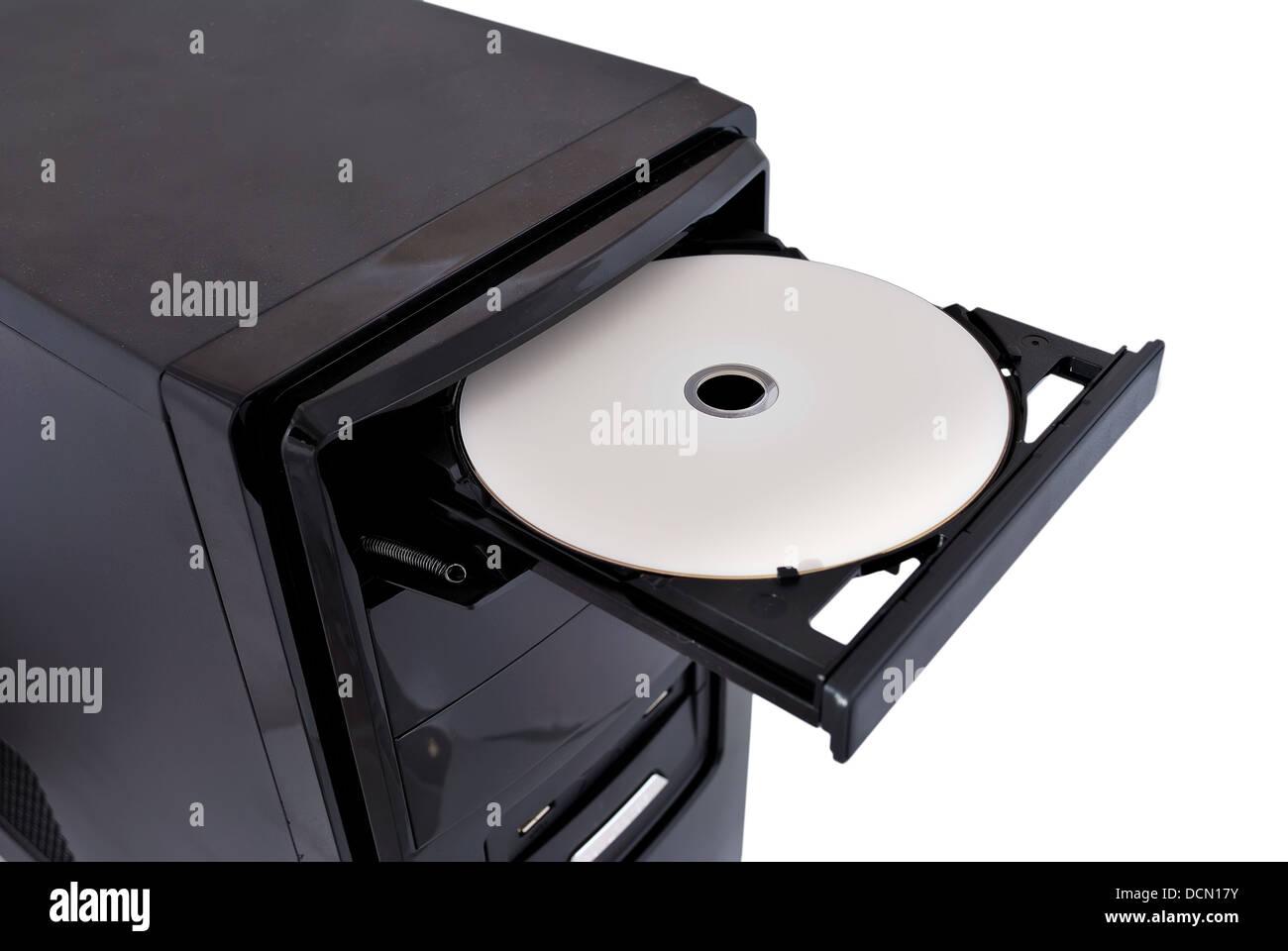 open dvd rom - Stock Image