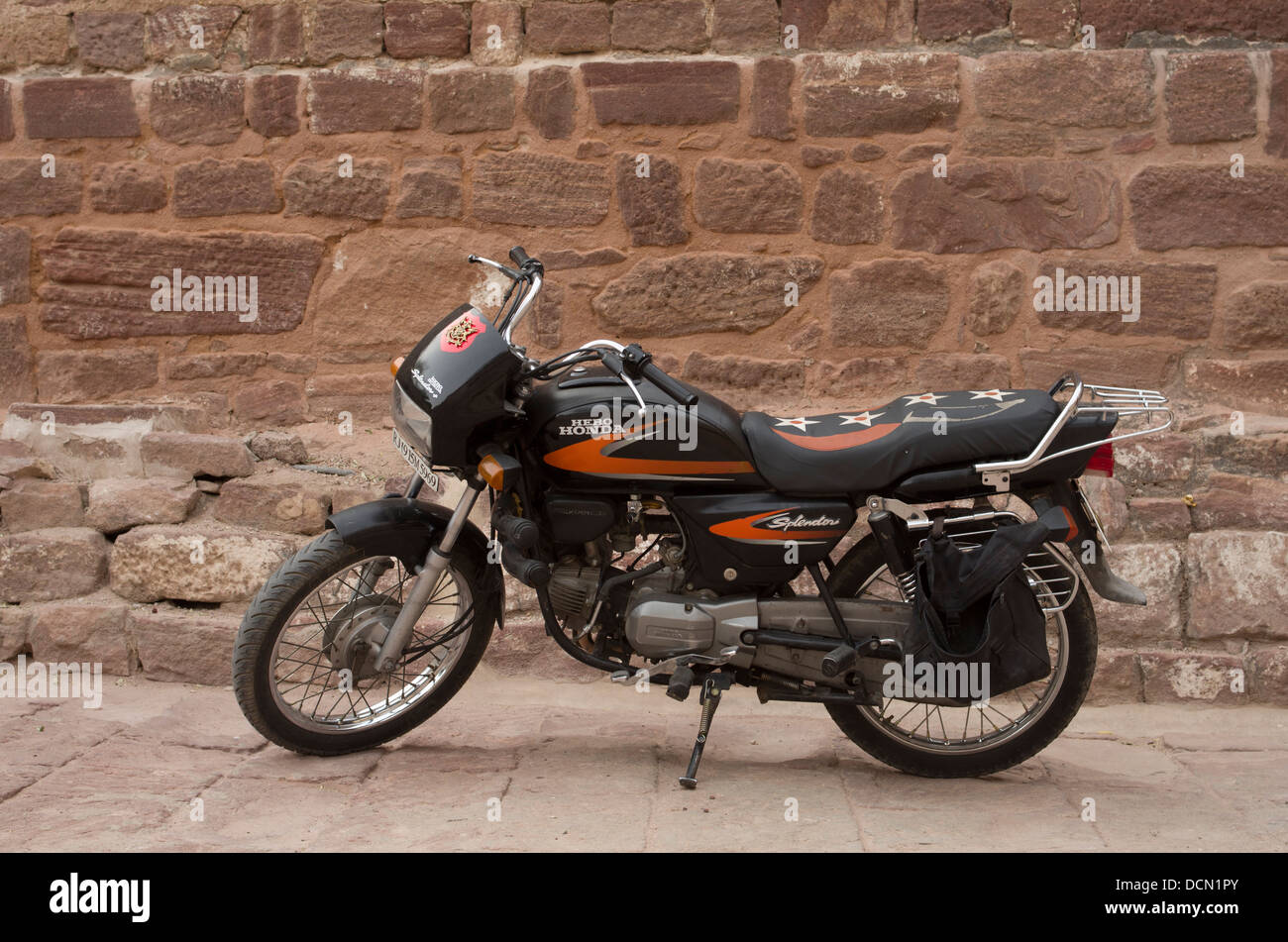 Honda Hero Motorbike -  Jodhpur, India Stock Photo