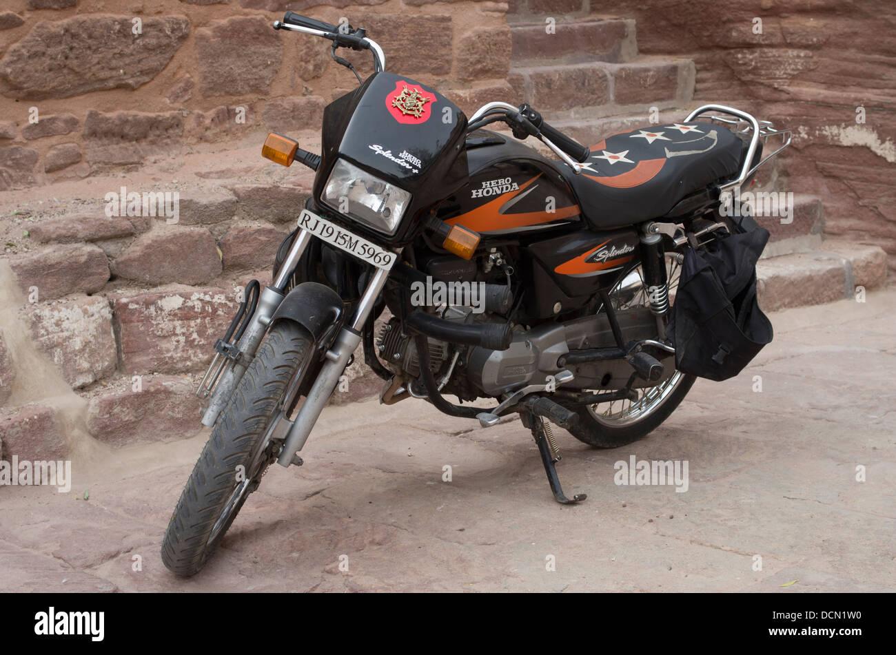 Honda Hero Motorbike -  Jodhpur, India - Stock Image