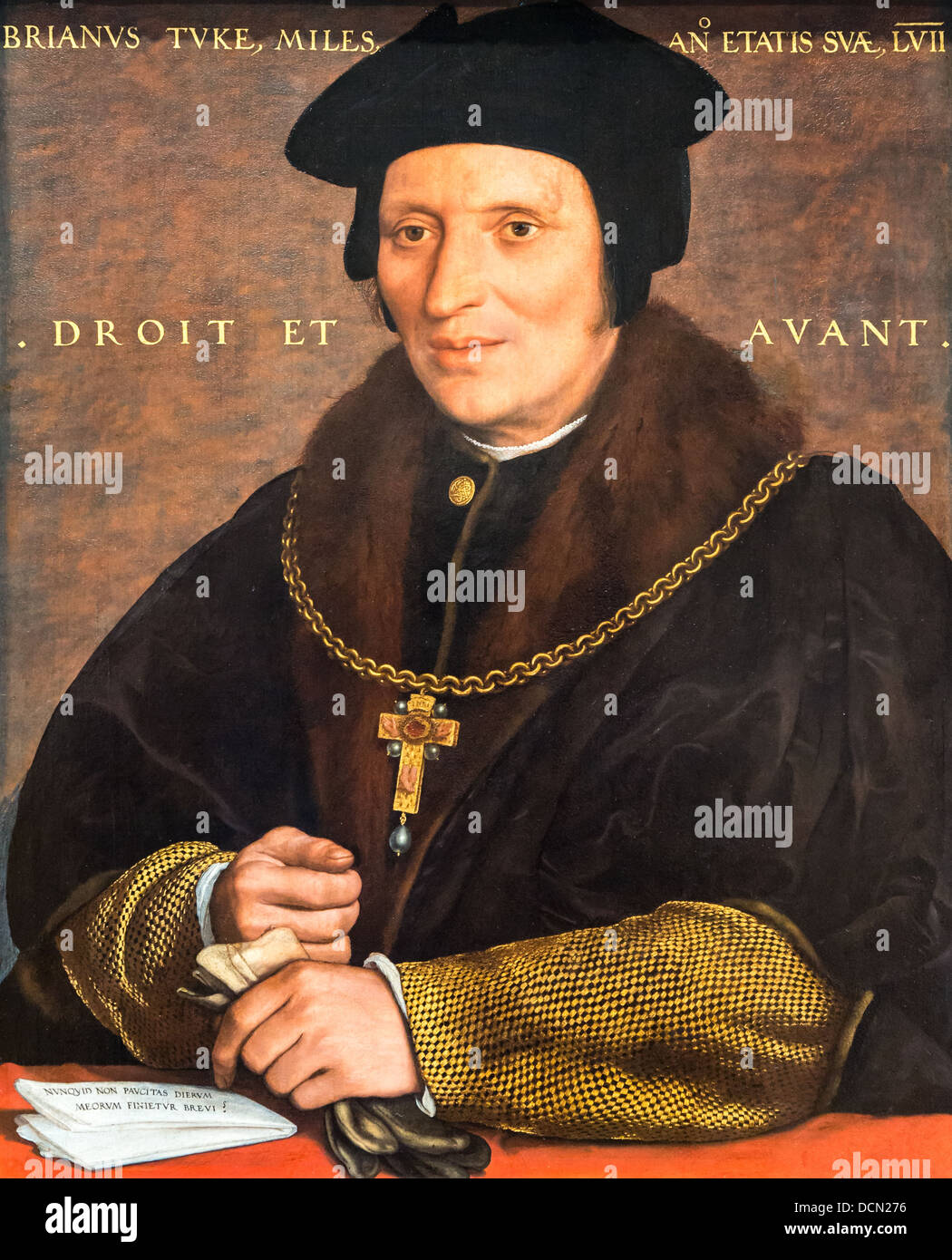 16th century  -  Sir Brian Tuke, 1532 - Hans Holbein the Young Philippe Sauvan-Magnet / Active Museum - Stock Image