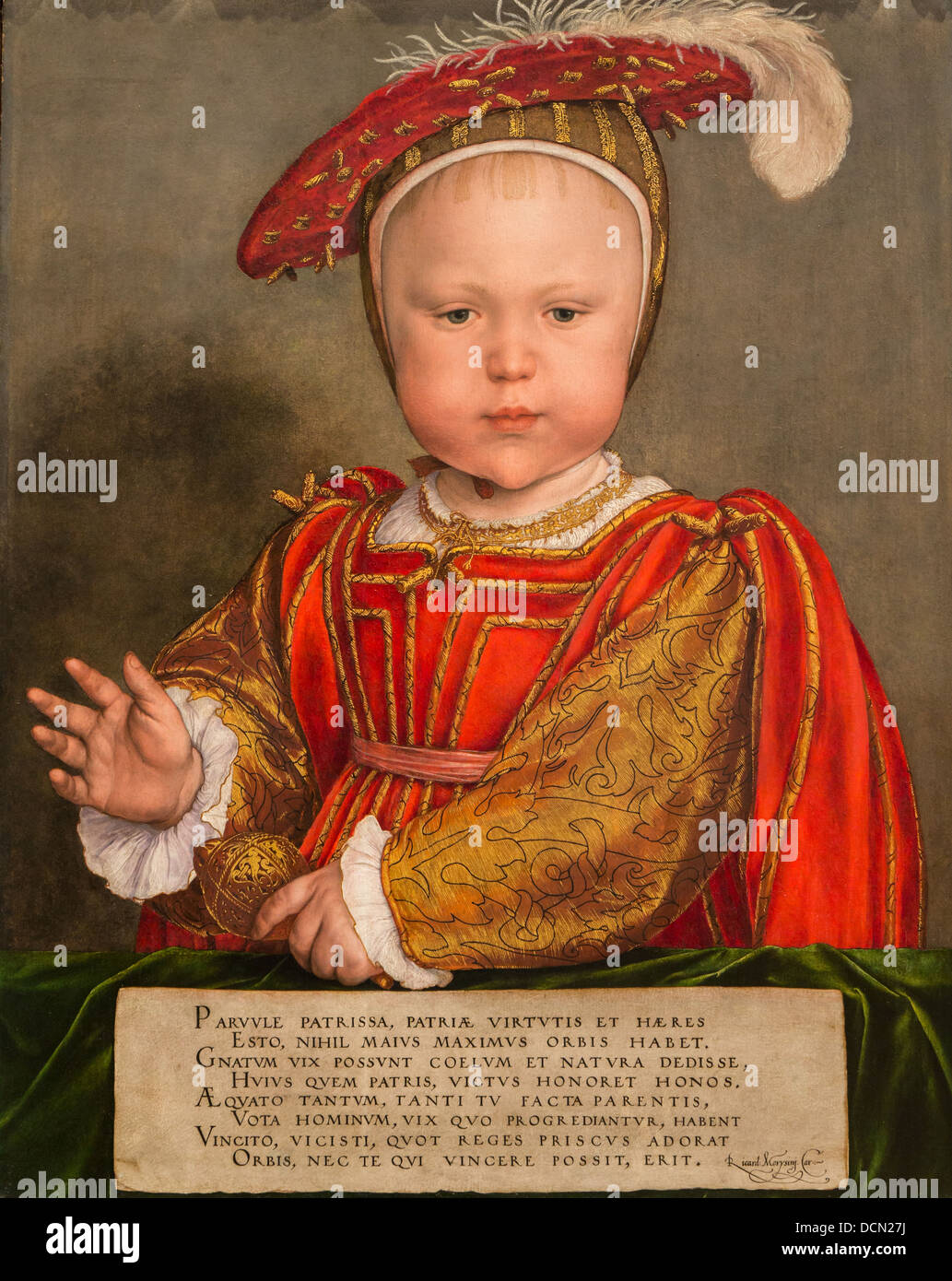 16th century  -  Edward VI as child, 1538 - Hans Holbein the Young Philippe Sauvan-Magnet / Active Museum - Stock Image