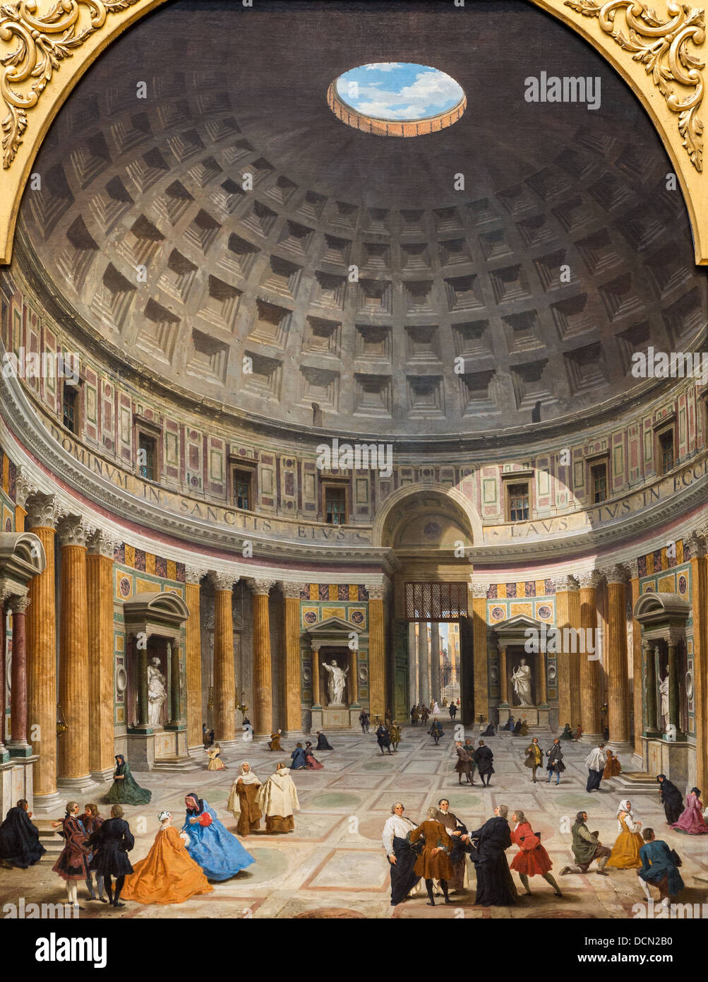 18th century  -  Interior of Pantheon, Rome, 1734 - Giovanni Paolo Panini Philippe Sauvan-Magnet / Active Museum - Stock Image