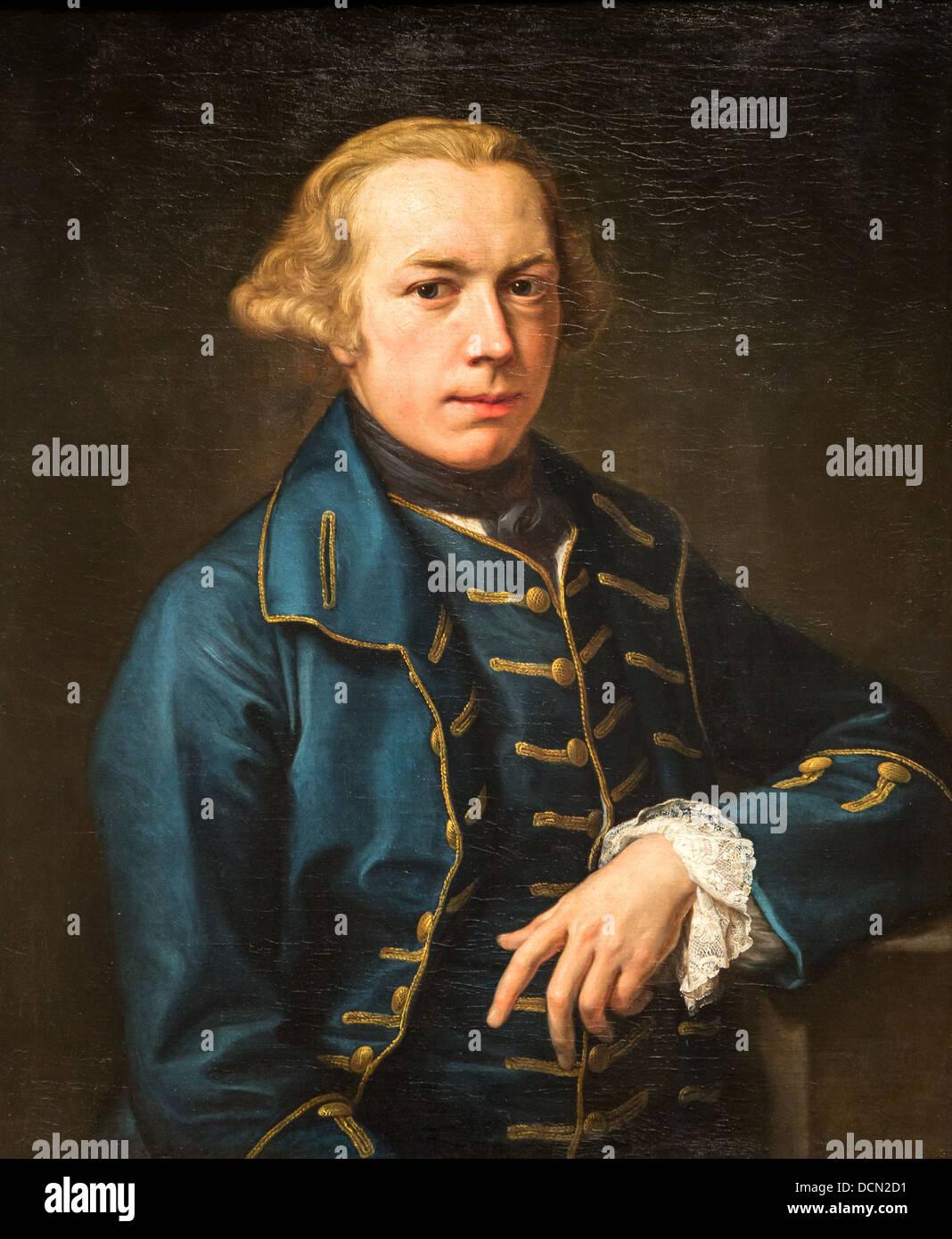 18th century  -  Portrait of a Gentleman, 1762 - Pompeo Batoni Philippe Sauvan-Magnet / Active Museum - Stock Image