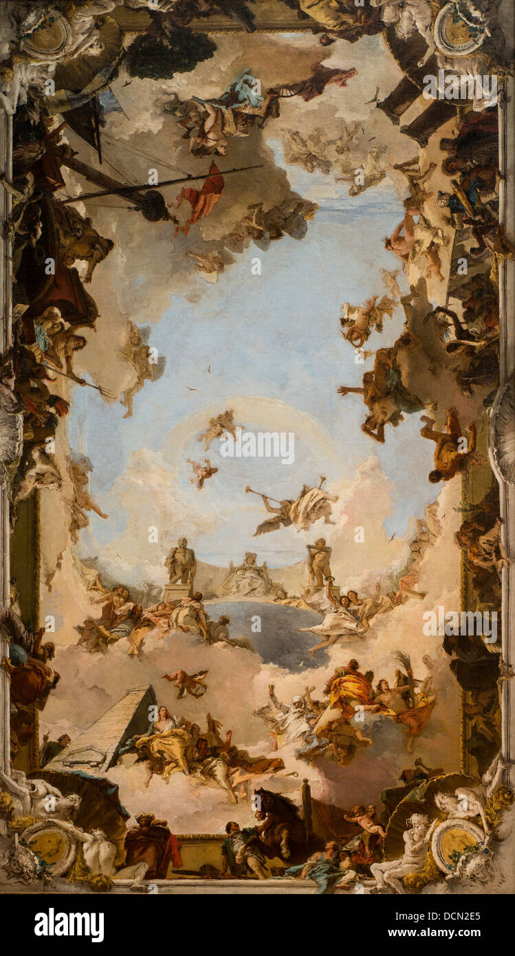 18th century  -  Wealth and Benefits of the Spanich Monarchy, 1762 - Giovanni Battista Tiepolo - Stock Image