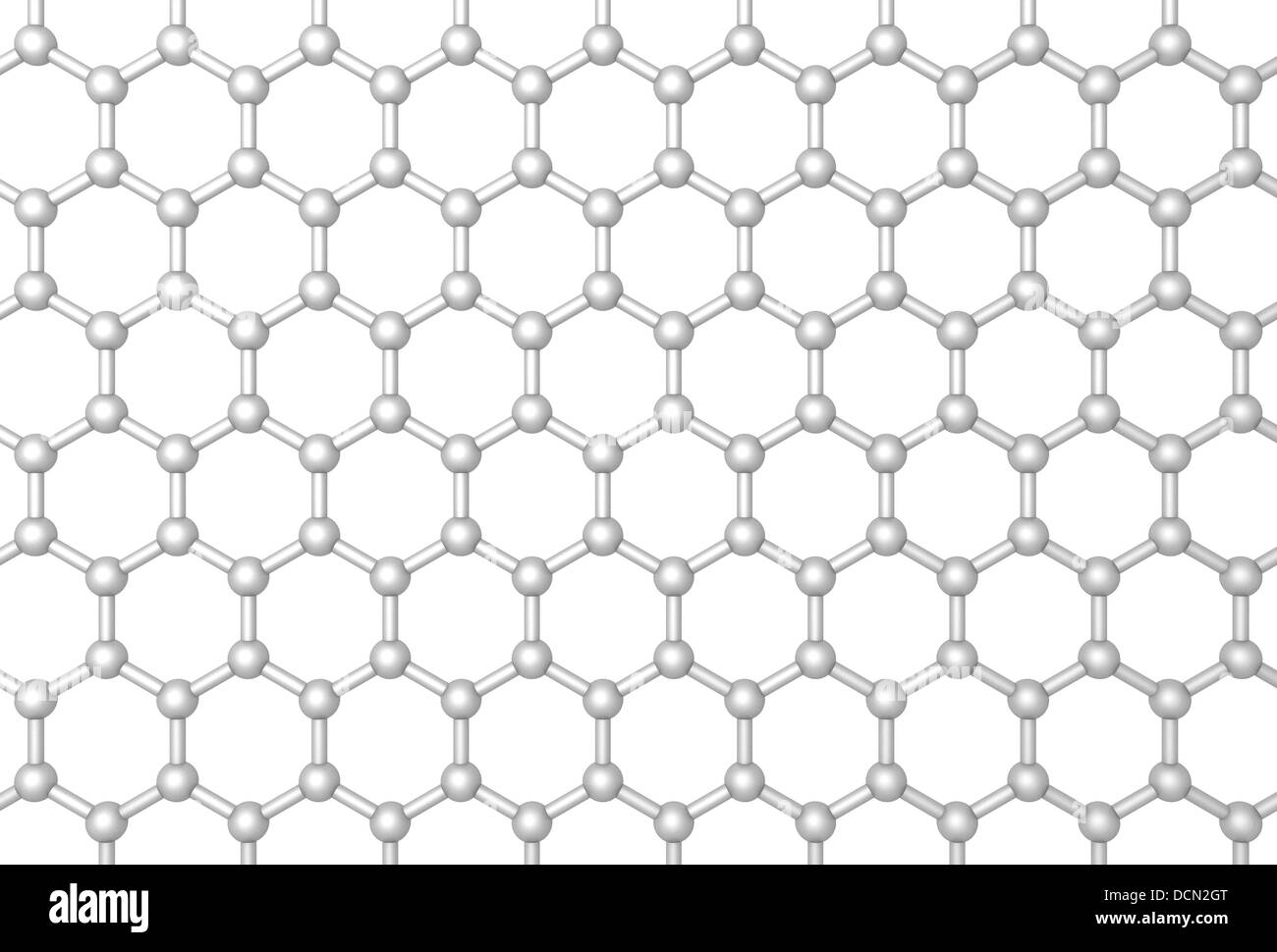 Graphene layer structure schematic model. Frontal 3d render Stock ...