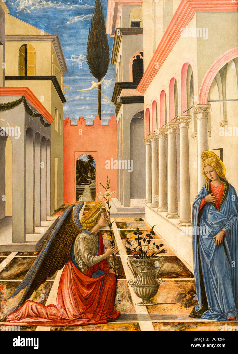 15th century  -  The Annonciation, 1445 - Fra Carnevale Philippe Sauvan-Magnet / Active Museum - Stock Image