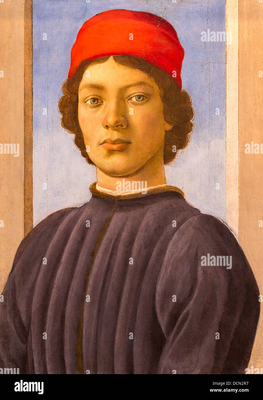 15th century  -  Portrait of  Youth, 1485 - Filippino Lippi Philippe Sauvan-Magnet / Active Museum - Stock Image