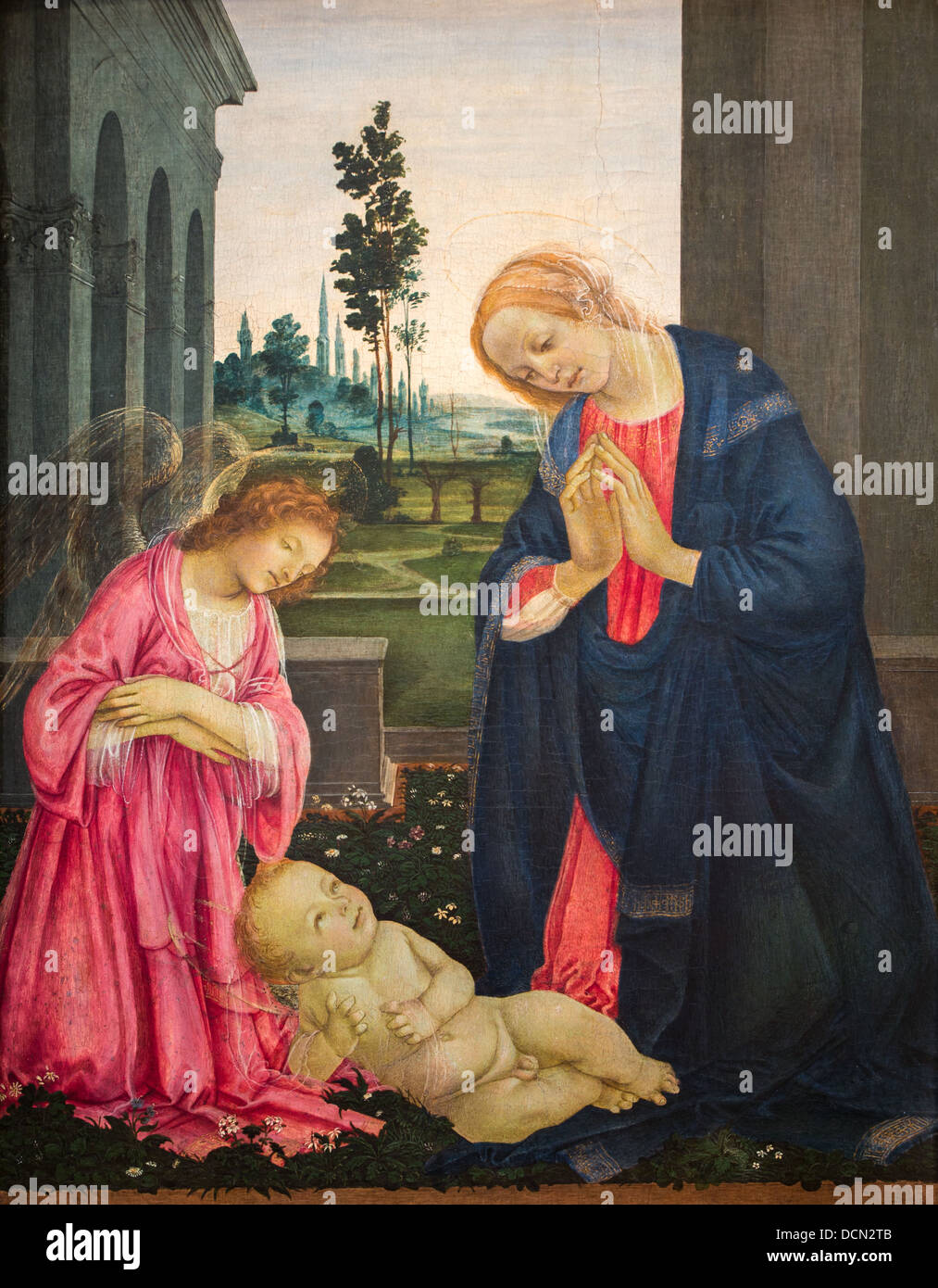 15th century  -  The Adoration of the Child, 1475 - Filippino Lippi Philippe Sauvan-Magnet / Active Museum - Stock Image