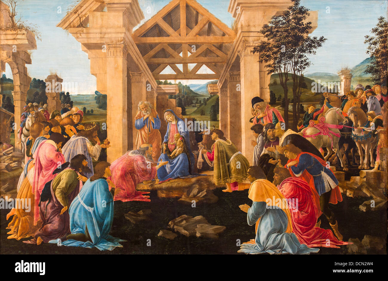 15th century  -  The Adoration of the Magi, 1478 - Sandro Botticelli Philippe Sauvan-Magnet / Active Museum - Stock Image