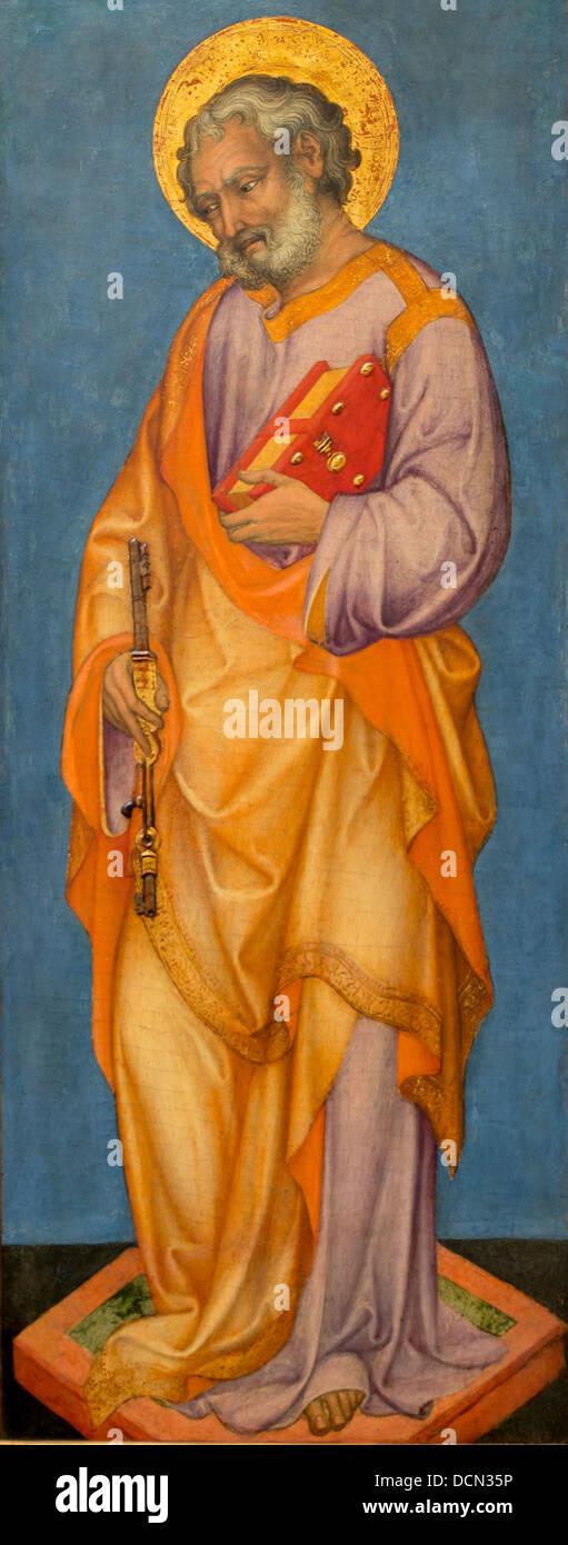 15th century  -  Saint Peter - Michele Giambono Philippe Sauvan-Magnet / Active Museum - Stock Image