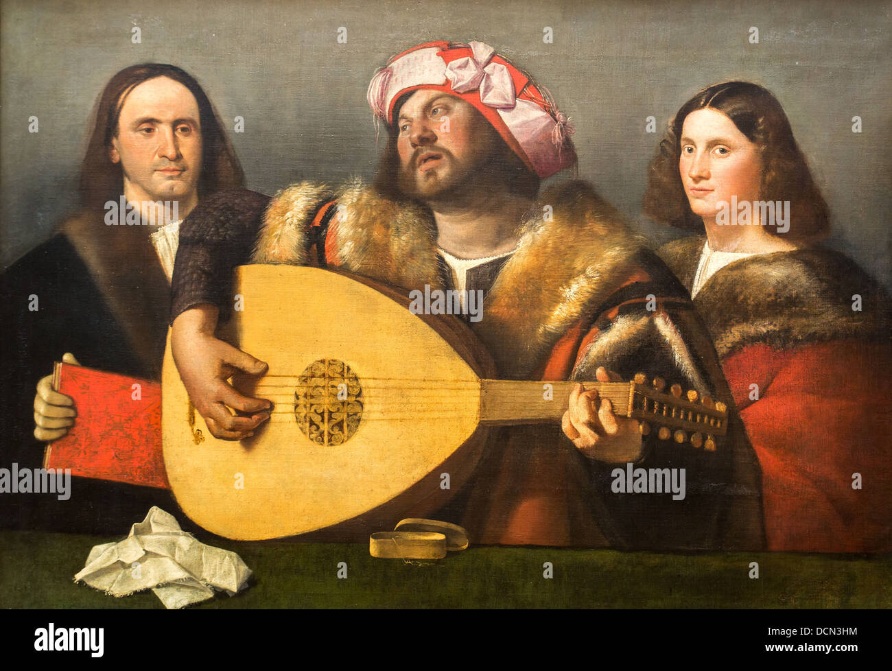 16th century  -  A Concert, 1518 - Giovanni Cariani Philippe Sauvan-Magnet / Active Museum - Stock Image