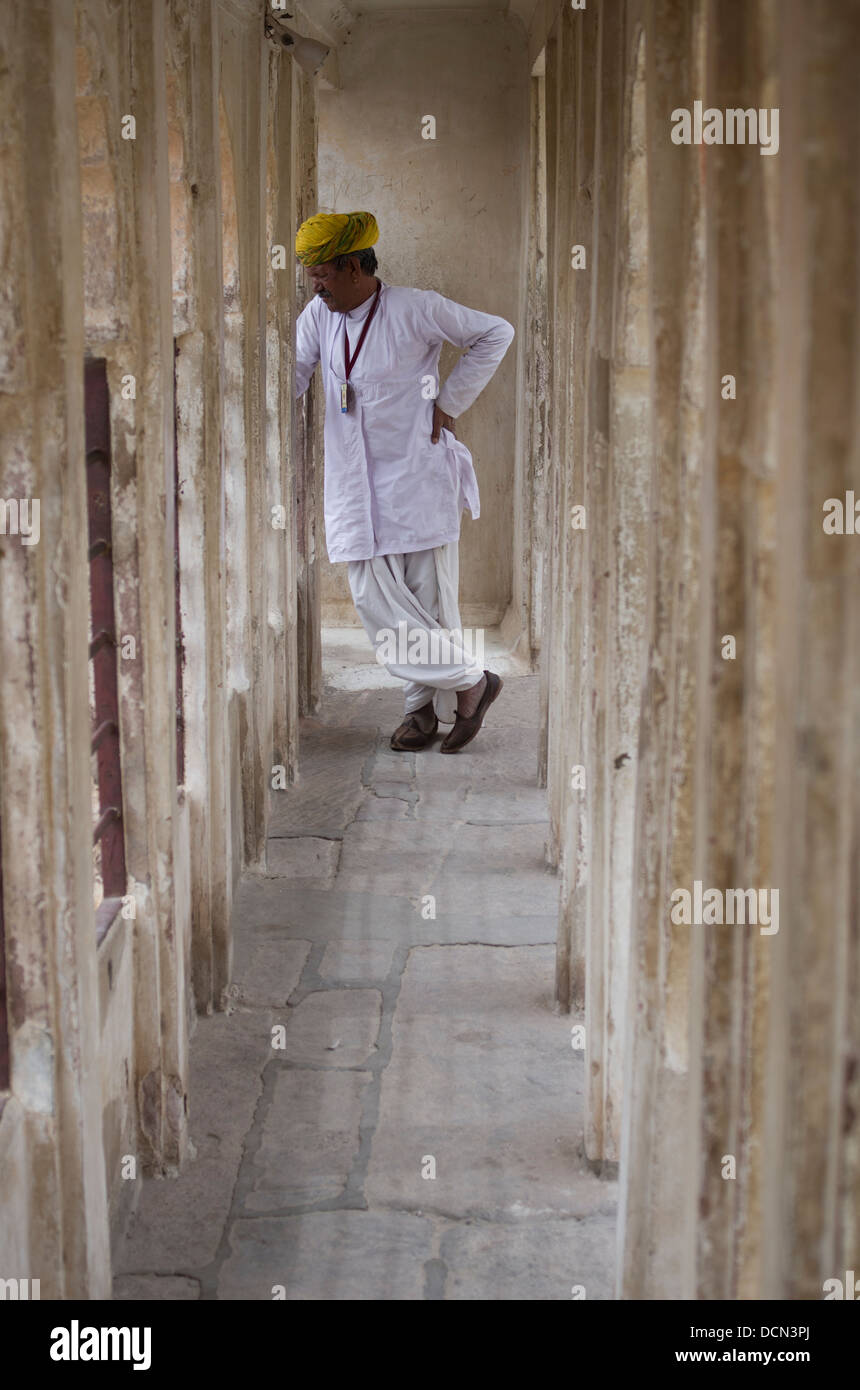 Meherangarh Fort - Jodhpur, Rajasthan, India - Stock Image