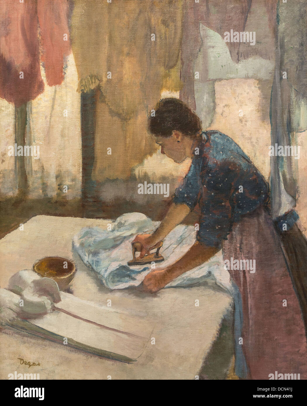 19th century  -  Woman Ironing, 1887 - Edgar Degas Philippe Sauvan-Magnet / Active Museum - Stock Image