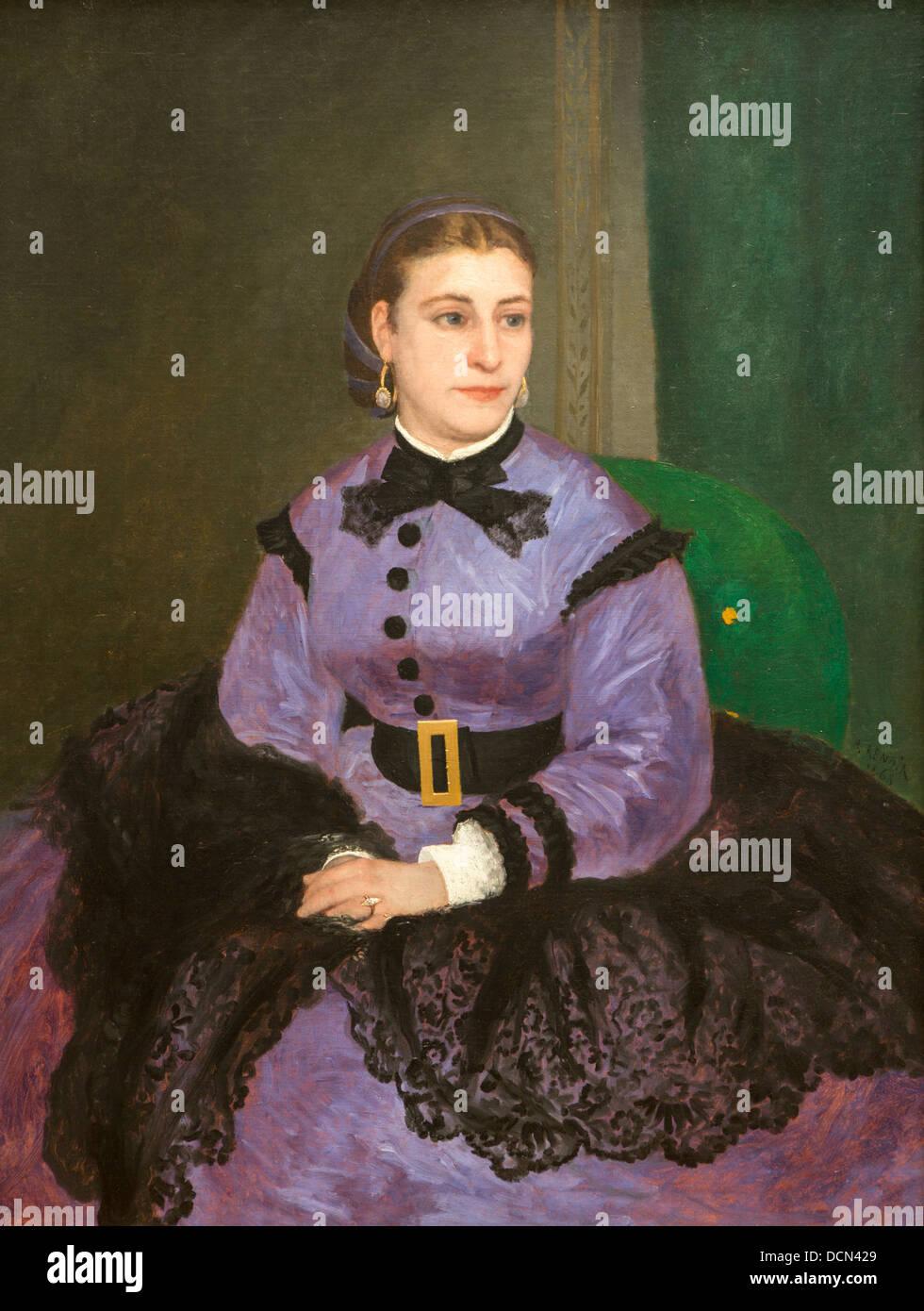 19th century  -  Mademoiselle Sicot, 1865 - Auguste Renoir Philippe Sauvan-Magnet / Active Museum - Stock Image