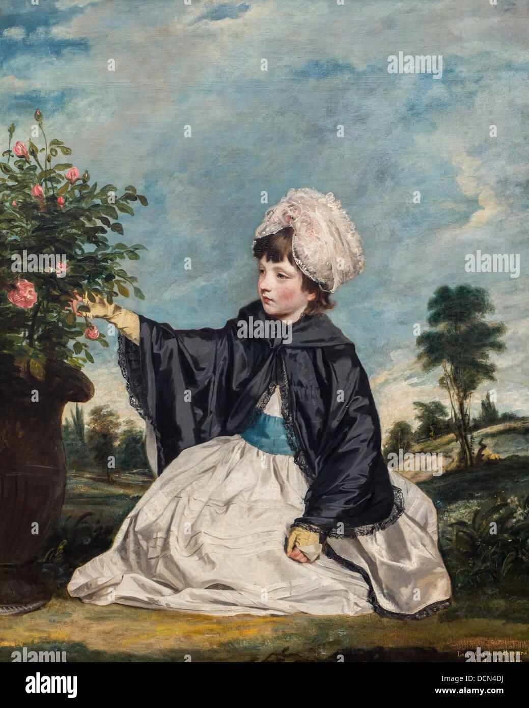 18th century  -  Lady Caroline Howard, 1778 - Sir Joshua Reynolds Philippe Sauvan-Magnet / Active Museum - Stock Image